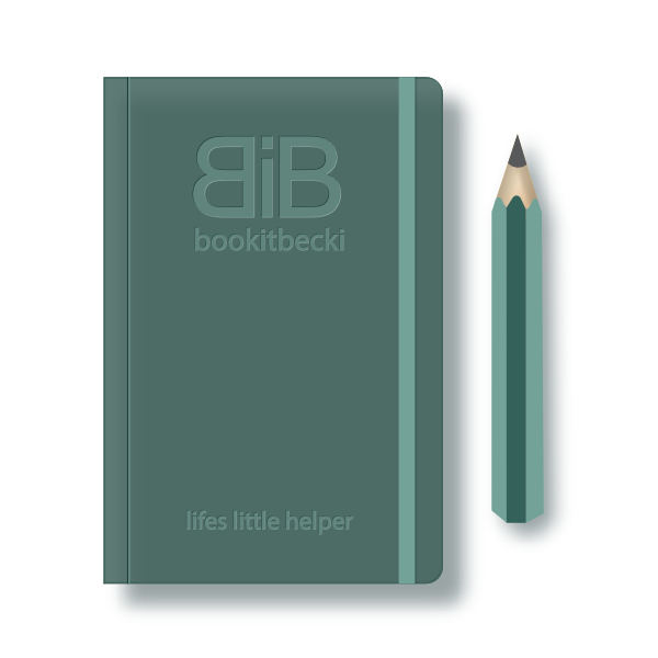 dark green moleskine book & pencil - lifes-little-helper - bookitbecki